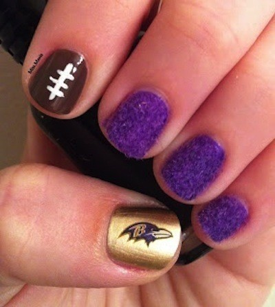 5 Super Bowl Nails Art Ideas - 5