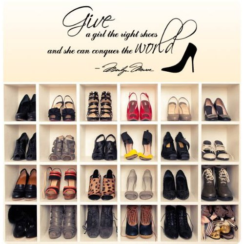 Marilyn Monroe Shoes Quote - Wall Decal