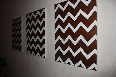 Cheap DIY Chevron Art 1