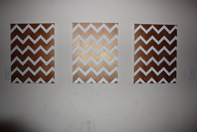 Cheap DIY Chevron Art - 2