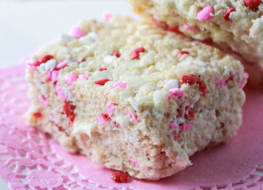 White Chocolate Rice Crispie Treats
