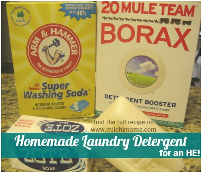 Homemade laundry detergent for an HE