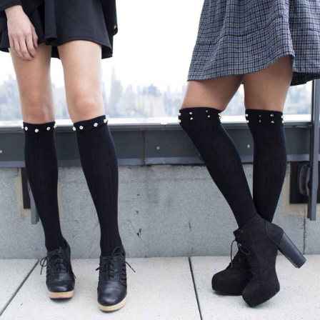 Socks with Knee High Boots