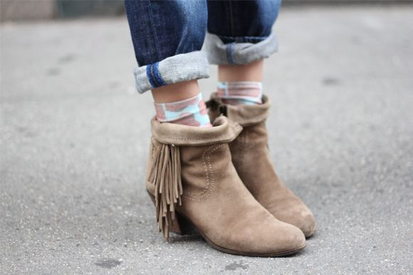 Funky Socks with Ankle Boots