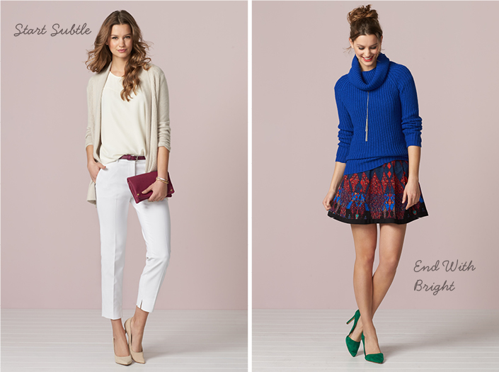How to Wear Pops of Color